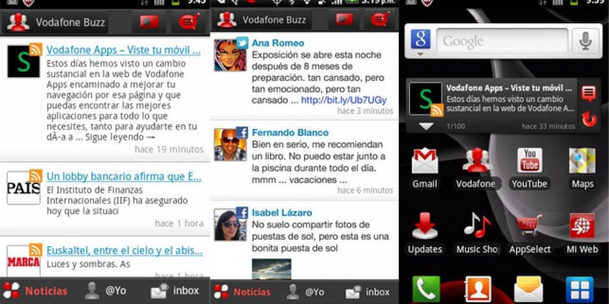 Vodafone Buzz: Usa las redes sociales y el RSS ahorrando tu plan de datos