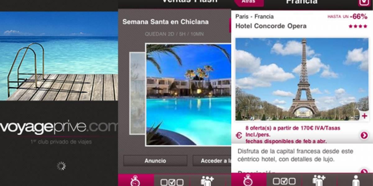 España: Ahora puedes comprar viajes de lujo al 70% de descuento con tu iPhone