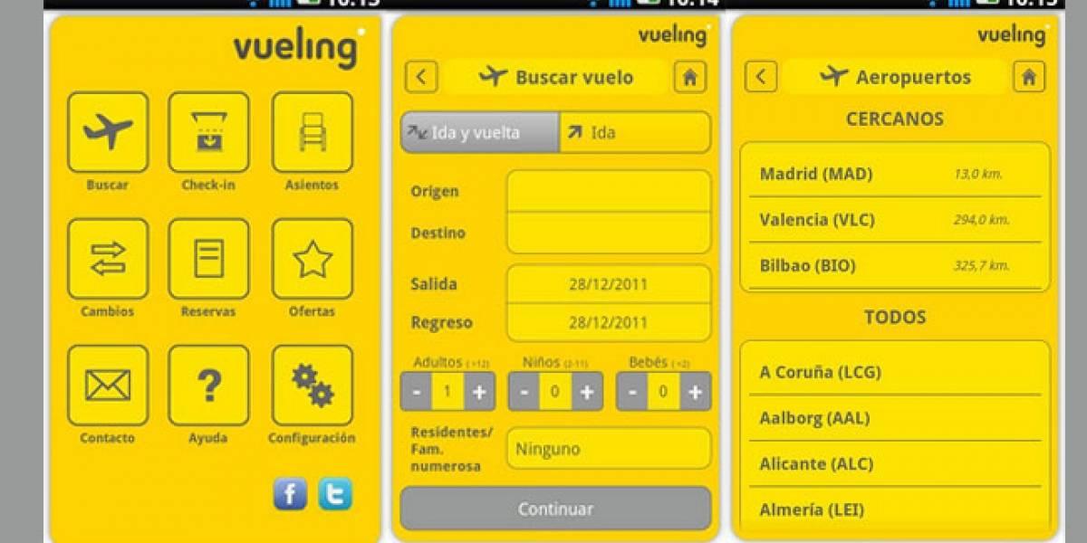 España: Ya puedes reservar billetes de Vueling desde tu Android