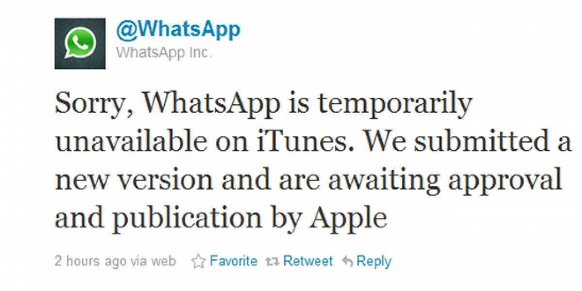 WhatsApp fue sacado de la App Store de Apple