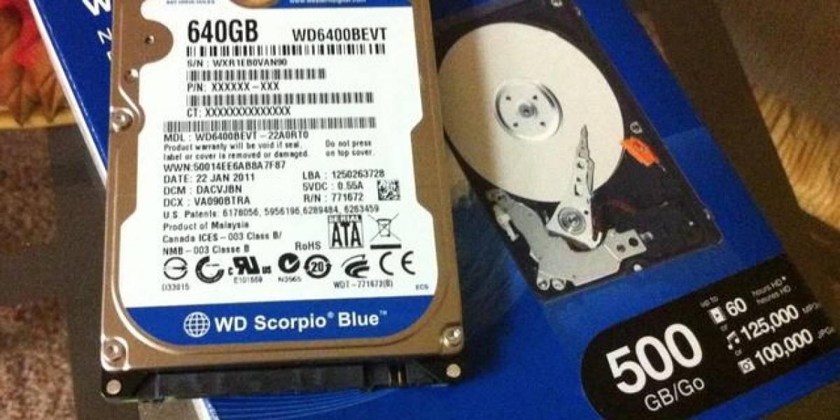 Western Digital regala algunos gigabytes extra en sus discos duros