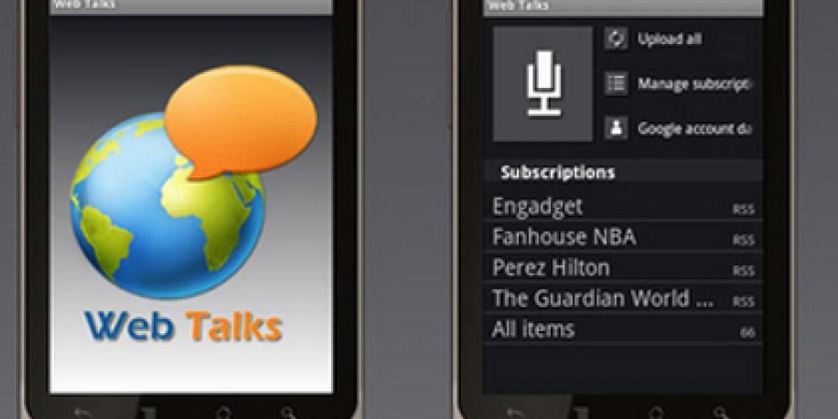 Web Talks: Una app para que tu Android 'te lea' las webs