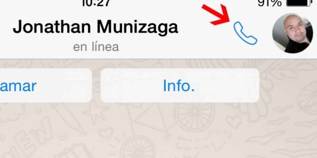 WhatsApp para iOS se actualiza agregando un misterioso ícono para hacer llamadas