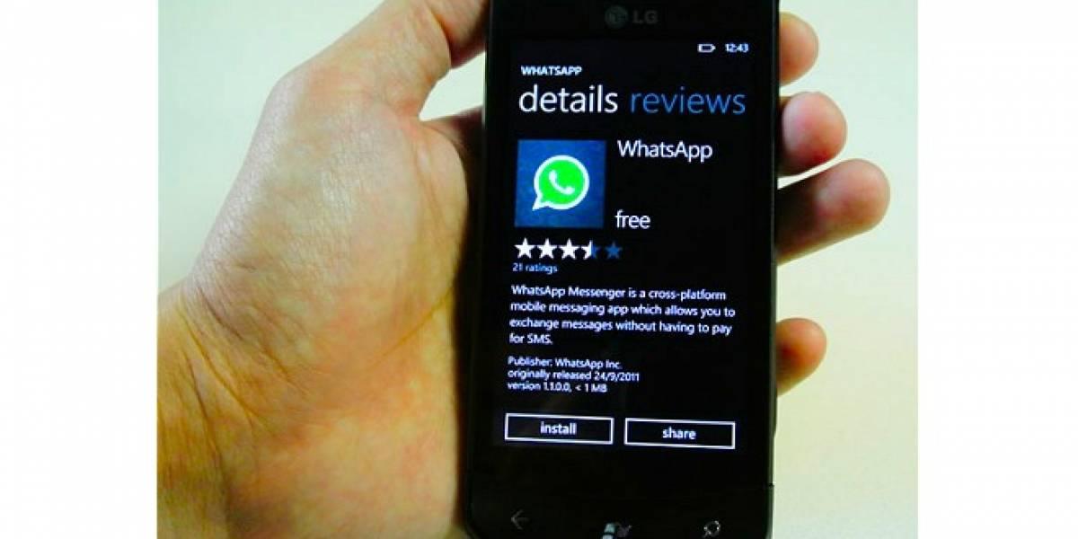 WhatsApp para Windows Phone se actualiza, dándole soporte a conversaciones en grupo