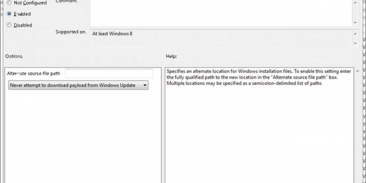 Archivos de instalación de Windows 8 podrán ponerse en otra ubicación