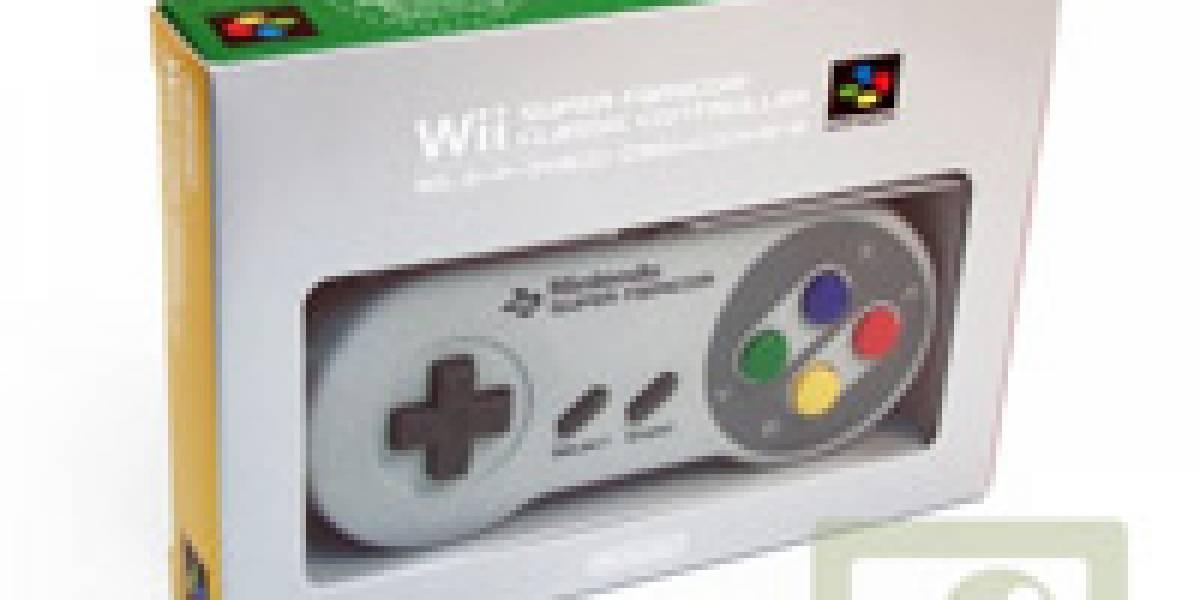 Lleva un Wii mote que luce como un pad de Snes