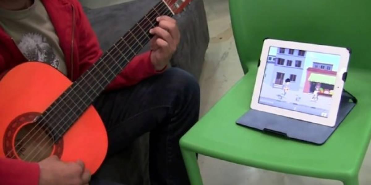 WildChords es un juego de iPad que te ejercita en la guitarra