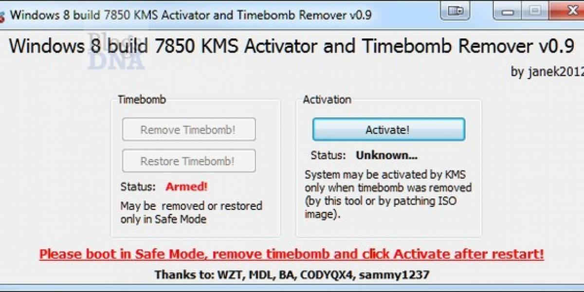 Ya se puede activar Windows 8 a la mala