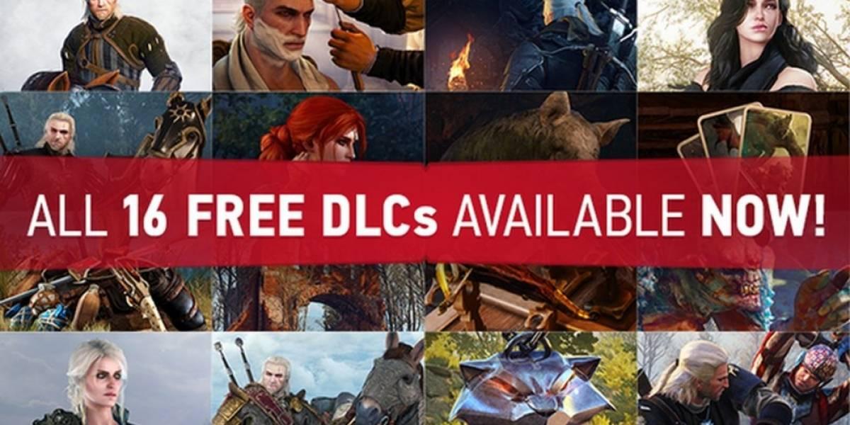 Ya están disponibles las 16 piezas de DLC gratuito para The Witcher 3