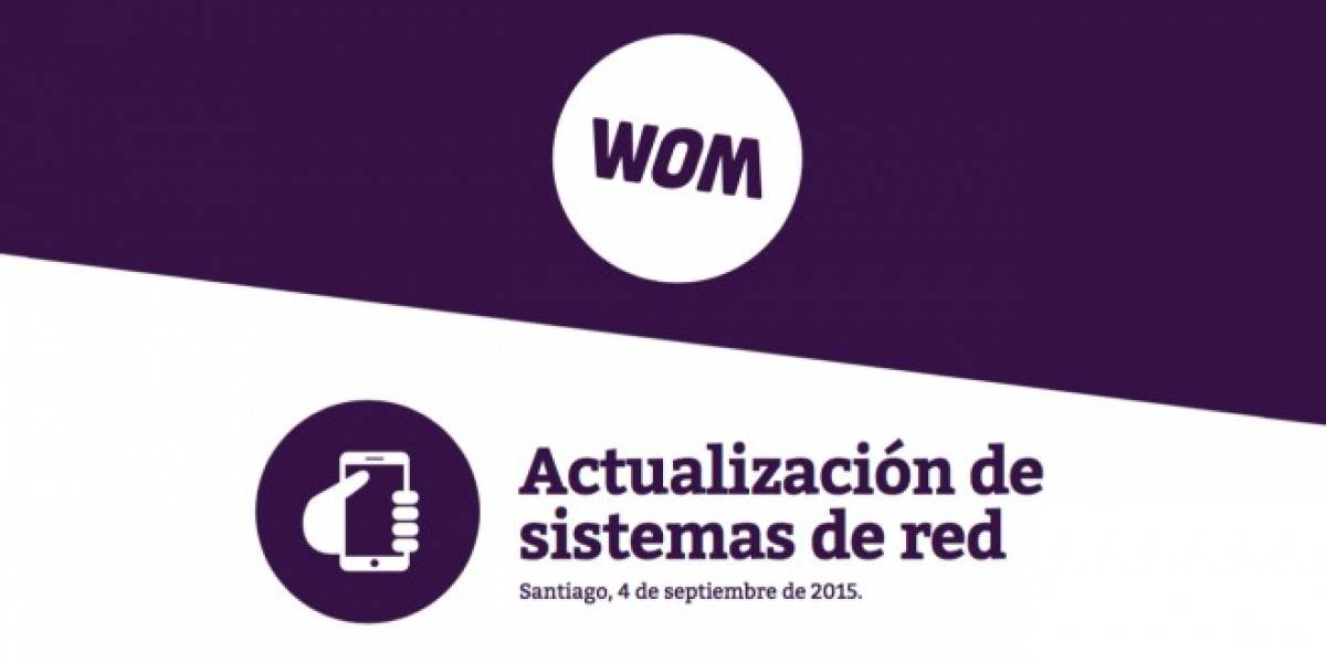 Este domingo WOM realizará actualizaciones en su red para su servicio 4G LTE