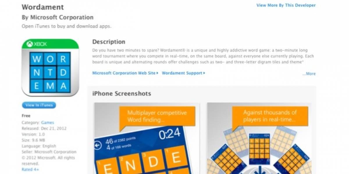 Wordament, el juego de Windows Phone, ahora en iPhone