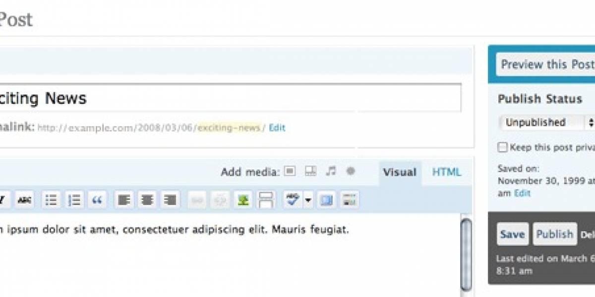 Matt muestra un adelanto de WordPress 2.5