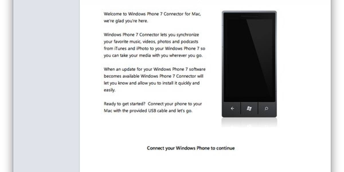 Windows Phone 7 ya se puede sincronizar con Mac