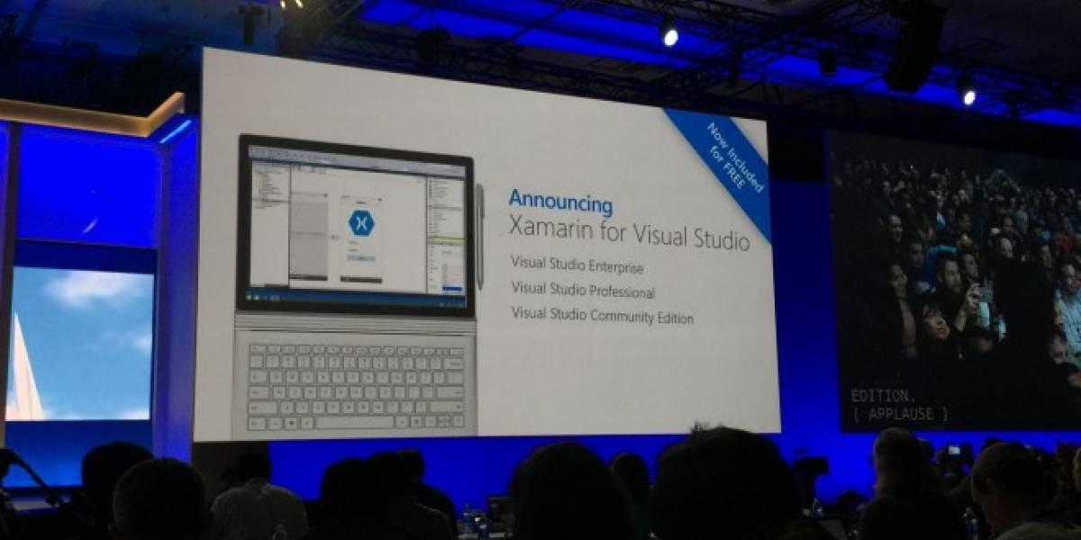 Xamarin será gratuito para usuarios de Visual Studio