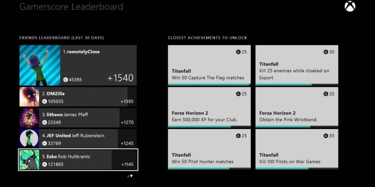 Disponible la actualización de octubre para Xbox One