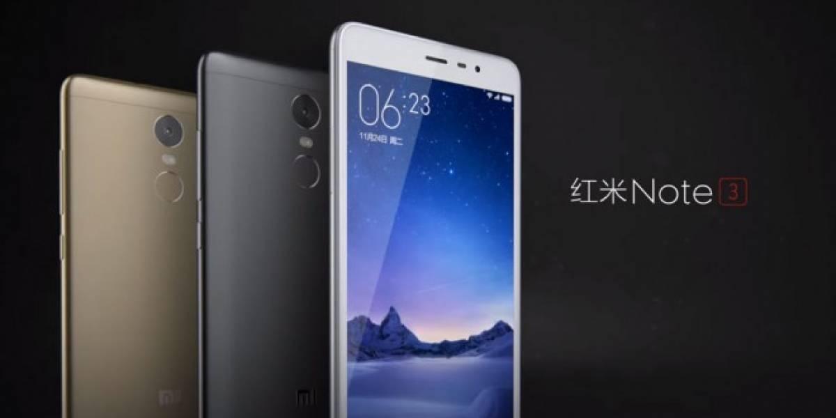 Xiaomi presenta el Redmi Note 3, con sensor de huellas digitales