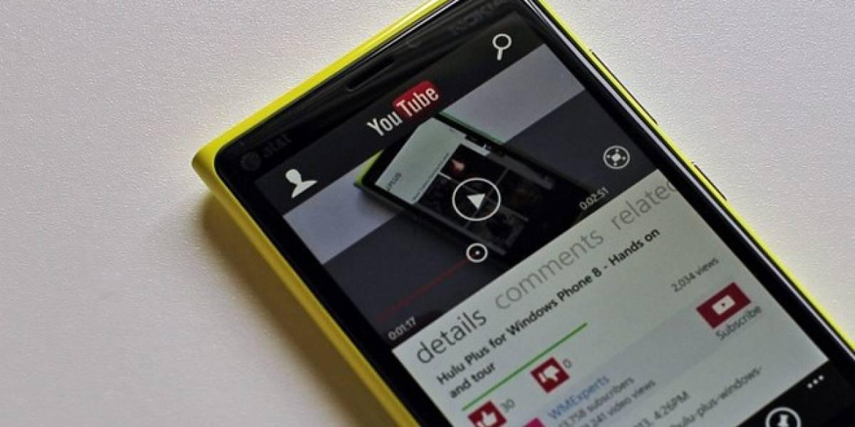 Google exige a Microsoft que retiren la aplicación de YouTube para Windows Phone [Actualizado]