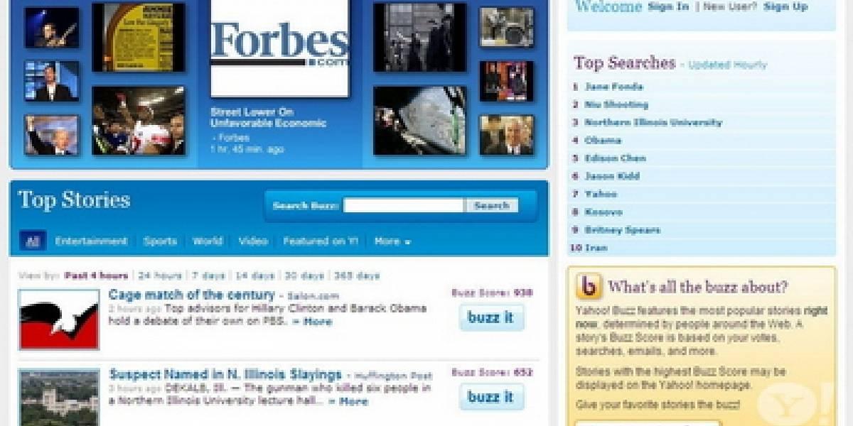 Yahoo a punto de lanzar competidor de Digg