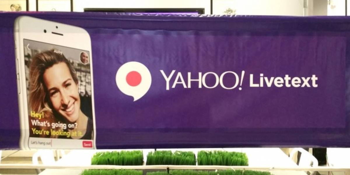Yahoo LiveText quiere introducir texto mientras chateas en video en vivo