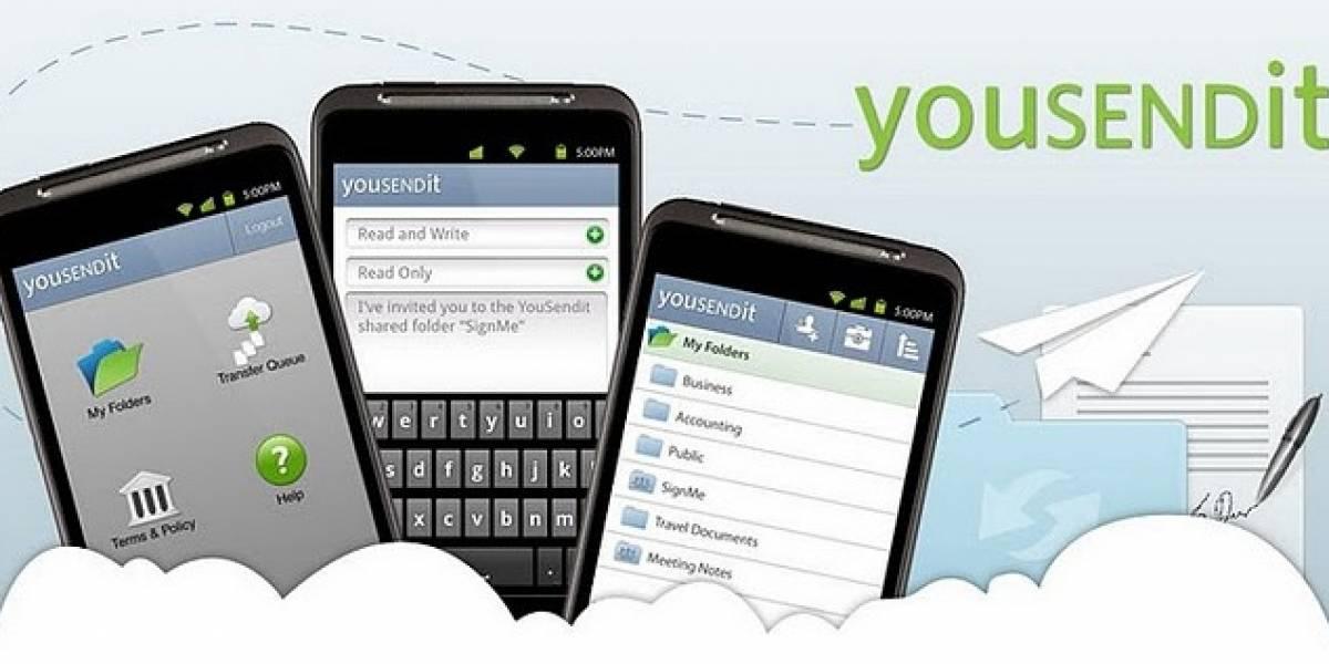 YouSendIt lanza su aplicación móvil al Android Market