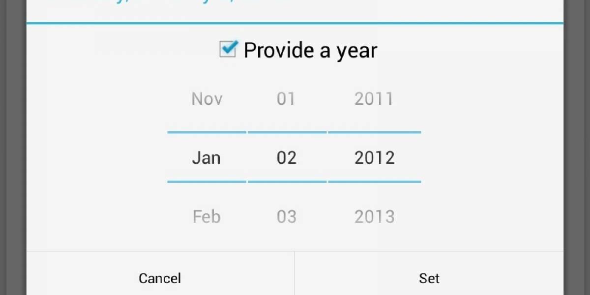 """Google olvida Diciembre en la app """"Gente"""" de Android 4.2"""