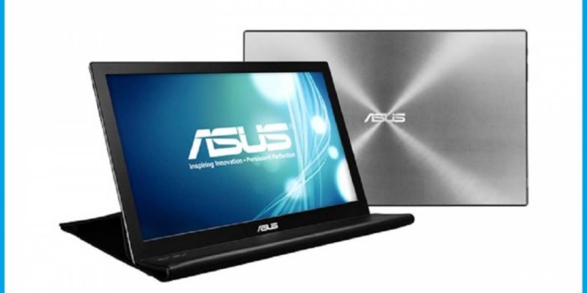 ASUS presenta su monitor portátil MB168 que se conecta por USB 3.0
