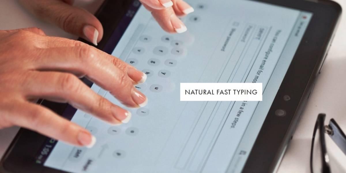 DRYFT: Digita en una tablet naturalmente como en un teclado físico