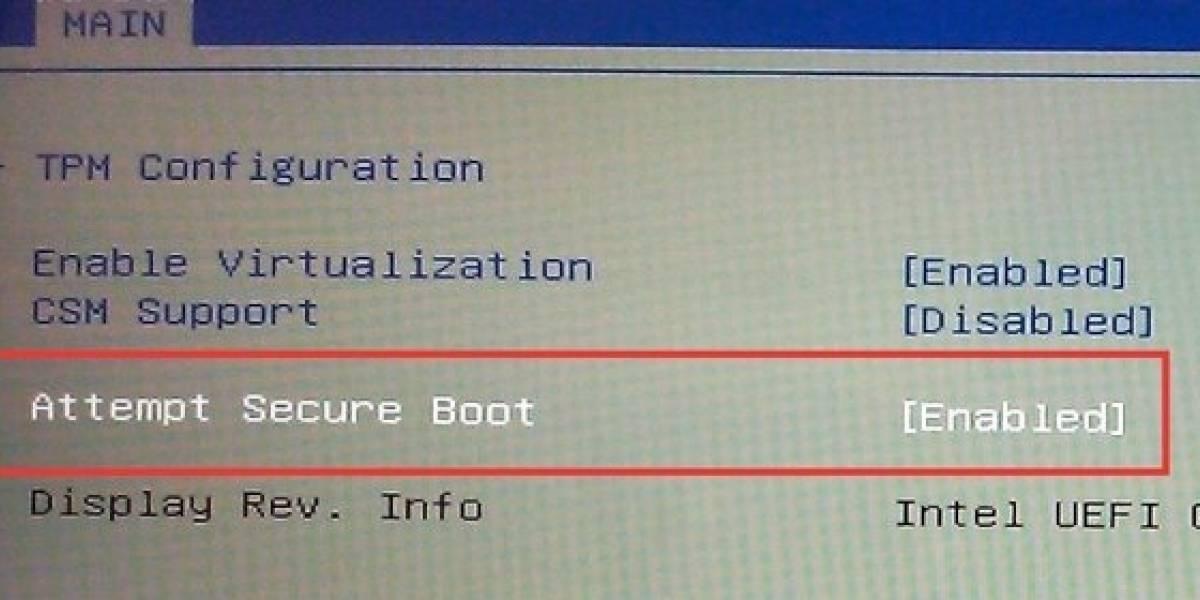Inicio Seguro de UEFI para Windows 8 podría dejarte sin control de tu PC