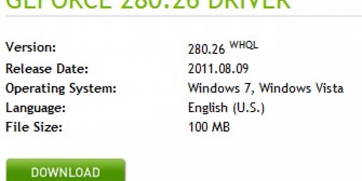 Aparecen drivers NVIDIA GeForce 280.26 con certificación WHQL