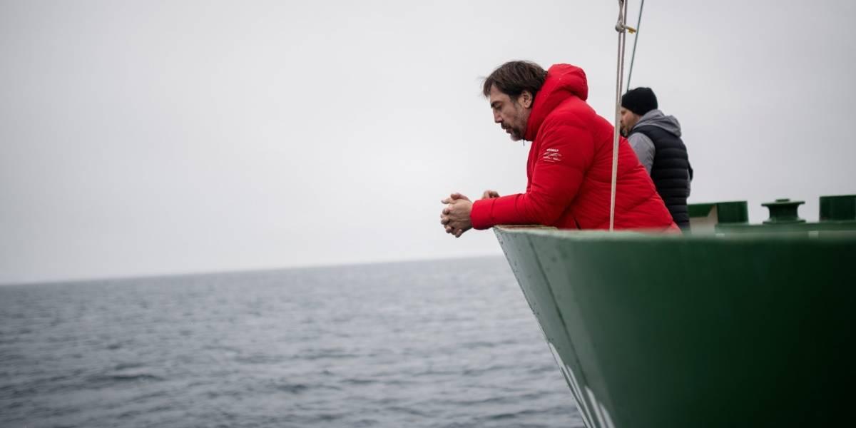 Las primeras imágenes de Javier Bardem en la Antártica chilena