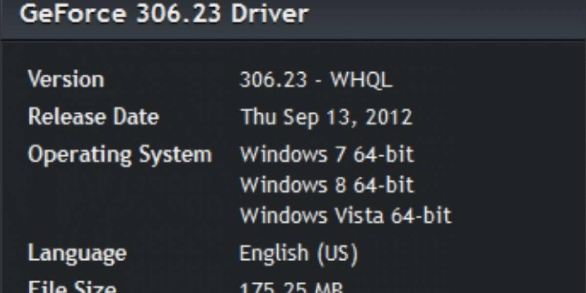 Controladores NVIDIA GeForce 306.23 WHQL a prueba
