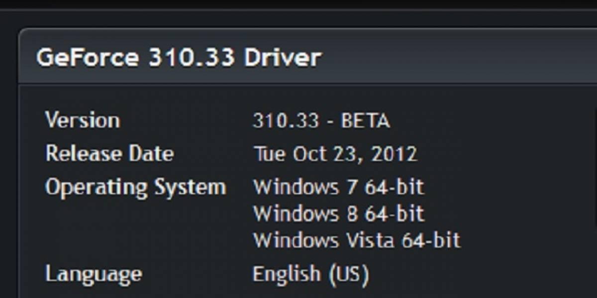 Controladores NVIDIA GeForce 310.33 Beta a prueba