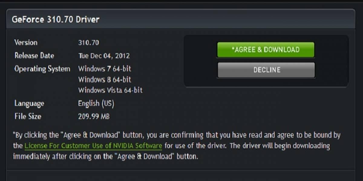 NVIDIA lanza sus controladores GeForce 310.70