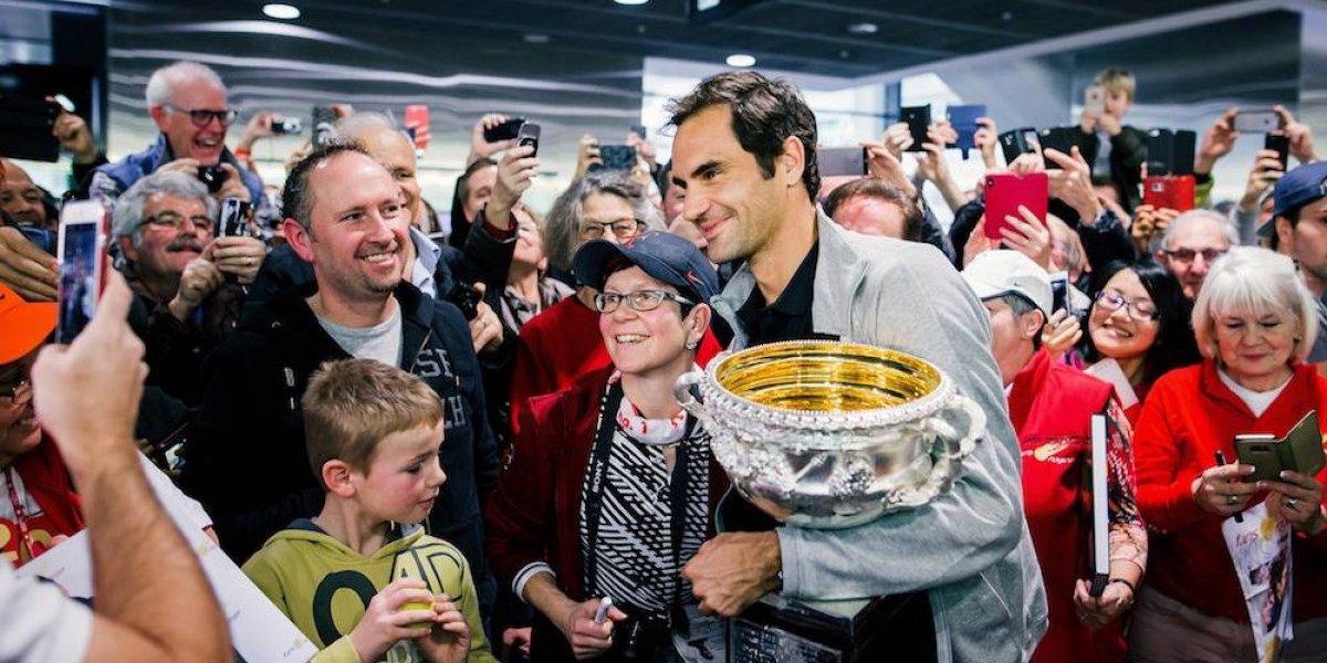 Roger Federer es recibido como un héroe en Suiza