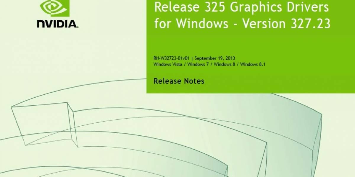 NVIDIA lanza sus controladores GeForce 327.23 WHQL