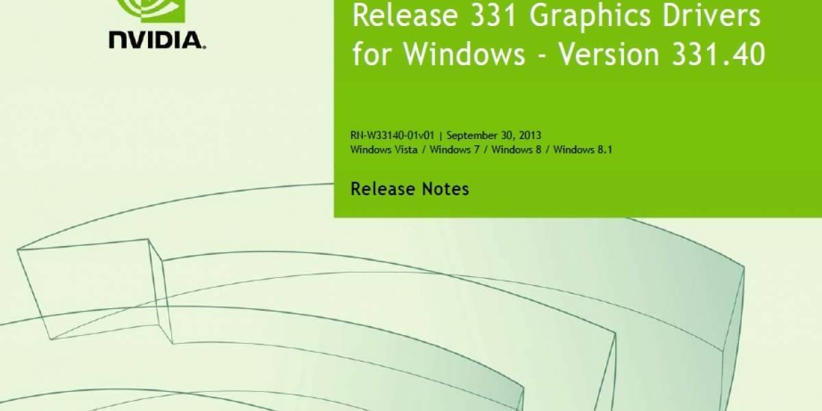 NVIDIA lanza sus controladores GeForce 331.40 Beta