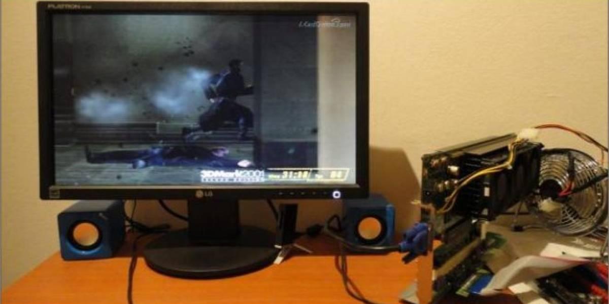 3dfx Voodoo 5 6000 overclockeada a 201MHz en un Core i7-2600K