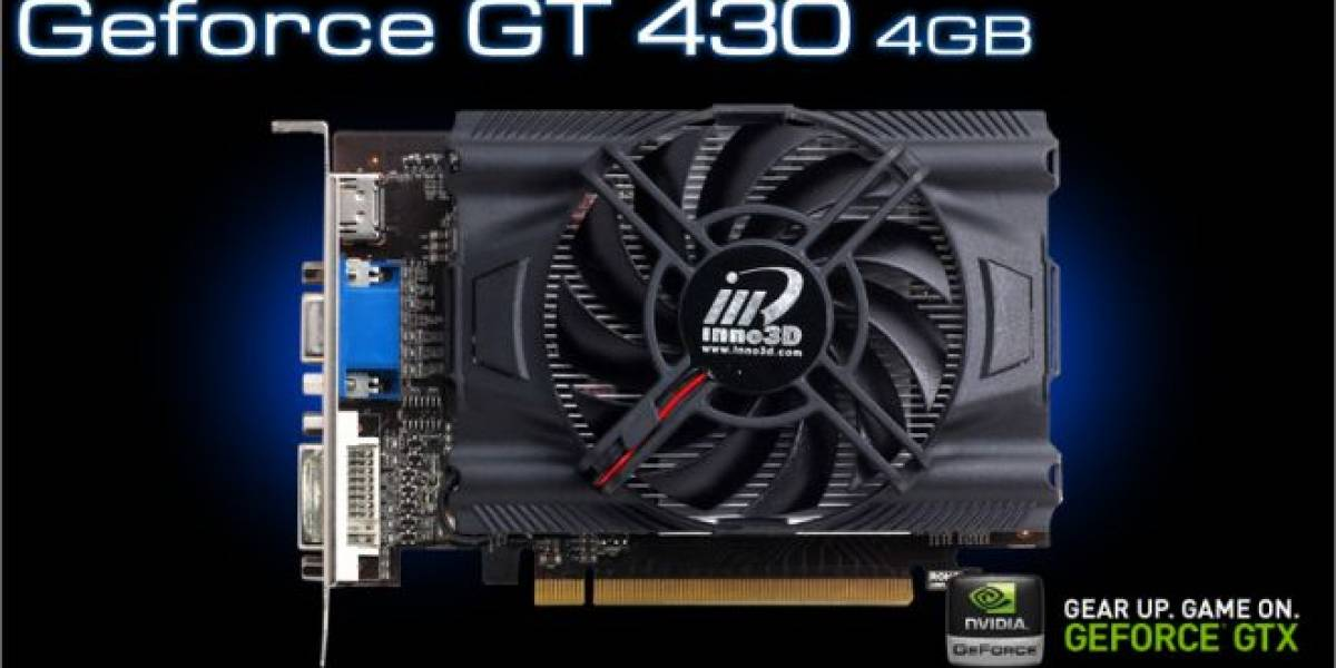 Inno3D lanza tarjeta de video Geforce GT 430 4GB
