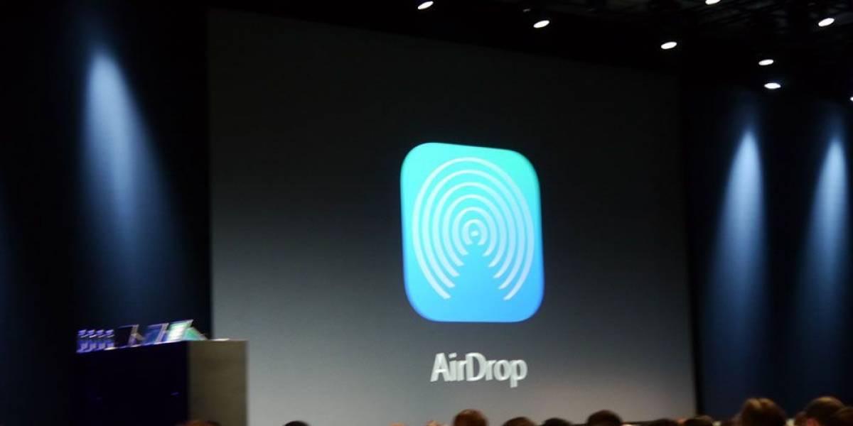 "Apple anuncia ""Air Drop"" para iOS #WWDC2013"