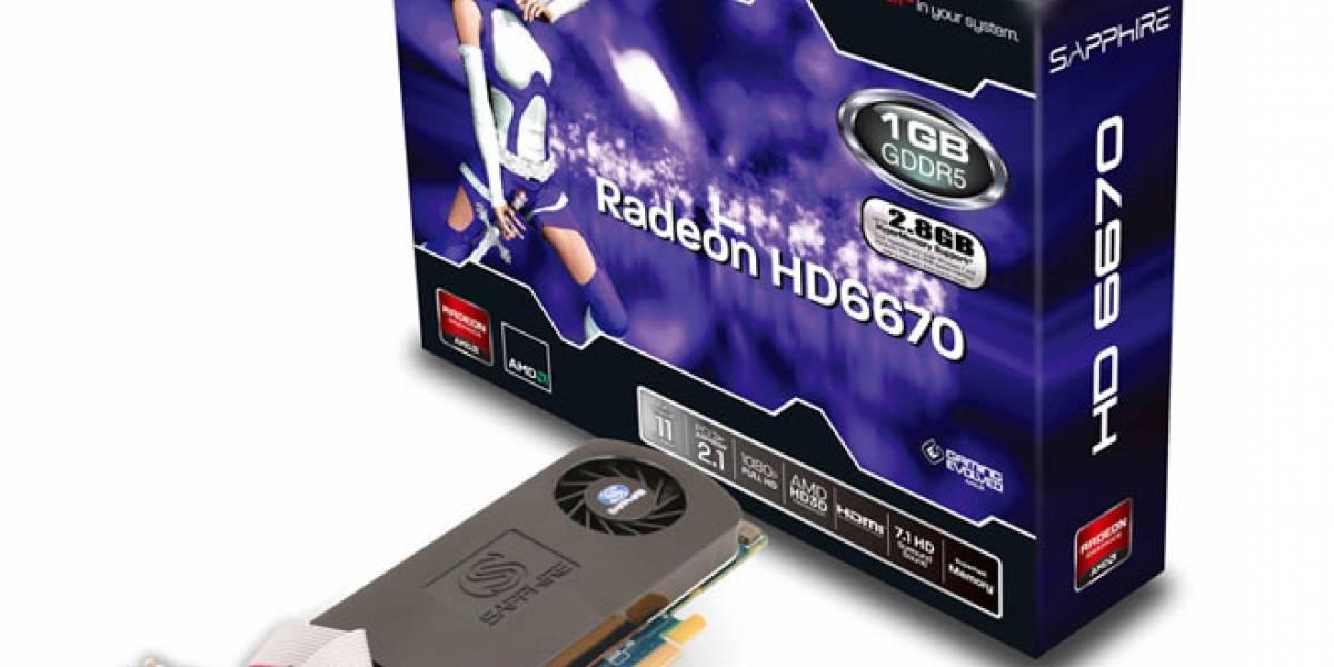 Sapphire Radeon HD 6670 de una ranura y bajo perfil