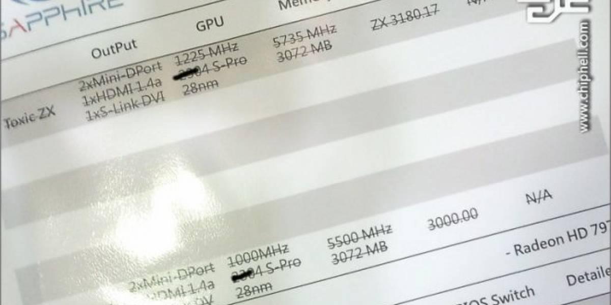 Se filtran las especificaciones de las Sapphire Radeon HD 7970