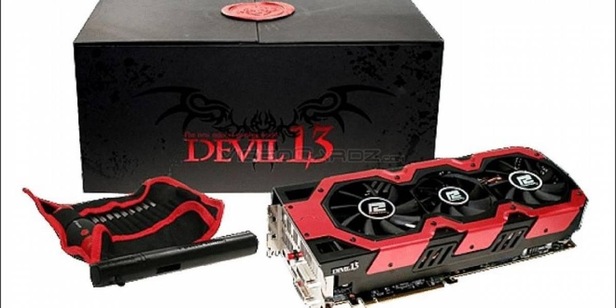 PowerColor HD 7990 Devil 13 fotografiada