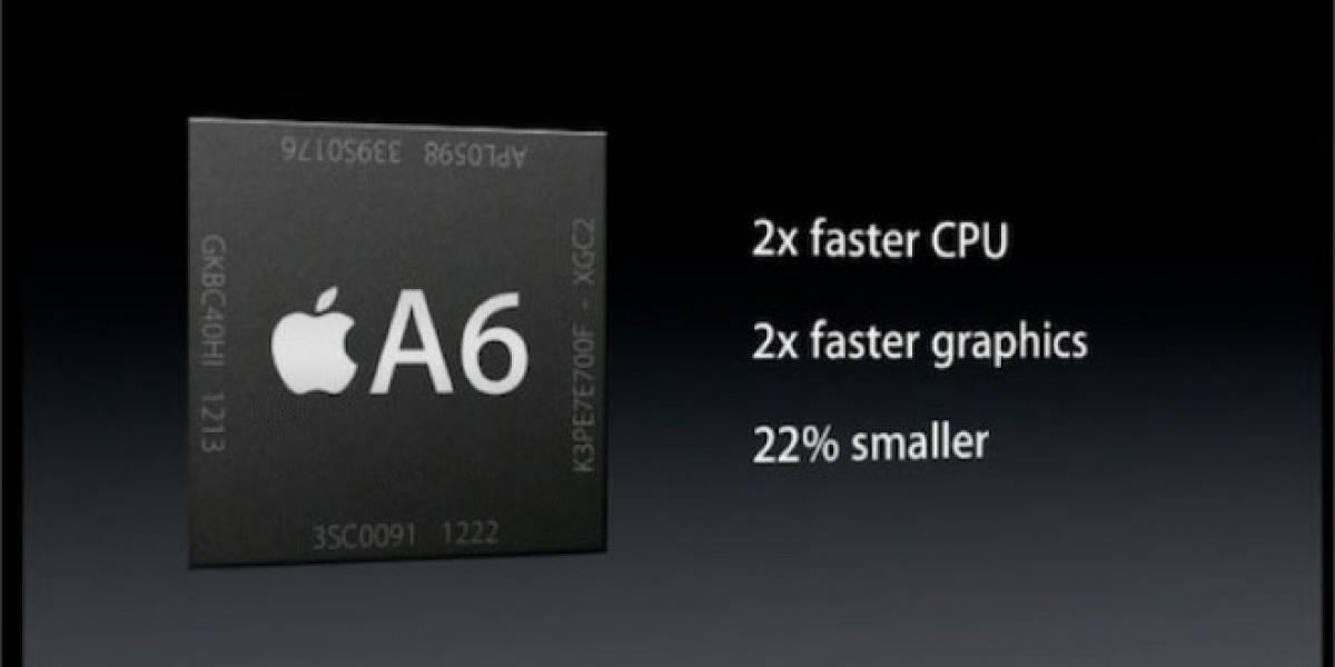 Más detalles del SoC Apple A6
