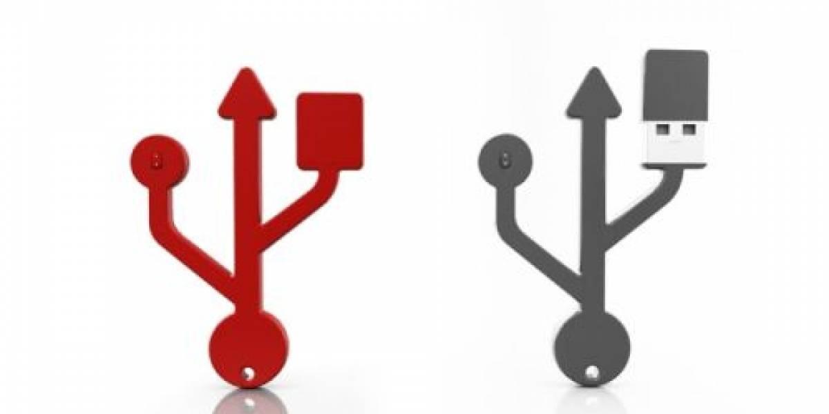 Pendrive USB con forma de USB (¿?)