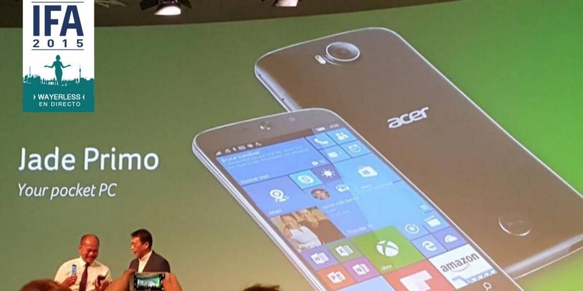 """Acer Jade Primo es el primer """"teléfono PC"""" que correrá con Windows 10 #IFA15"""
