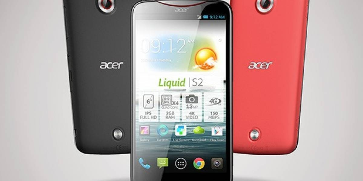"""Acer Liquid S2 es el primer """"móvil"""" capaz de grabar 4K"""