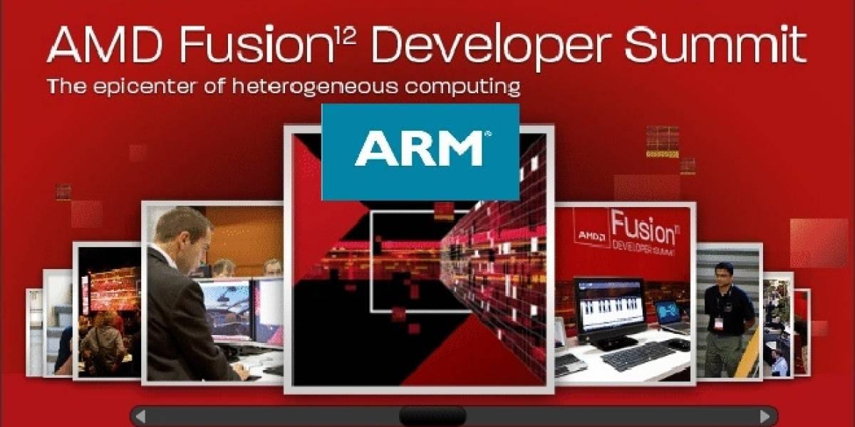 ARM hará un anuncio con respecto a AMD en el Fusion Developer Summit