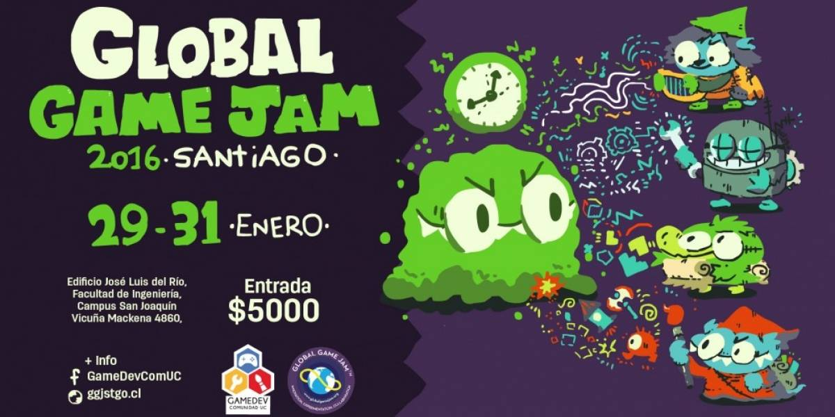 Global Game Jam Chile 2016 permitirá crear un juego en 48 horas
