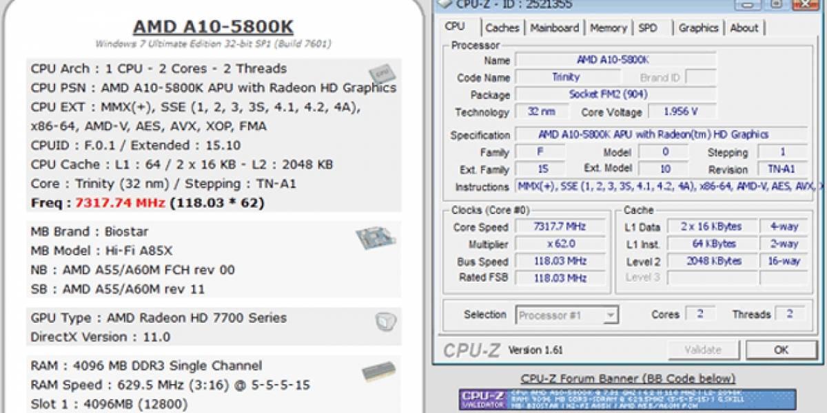 Llevan una APU AMD A10 hasta los 7,3GHz