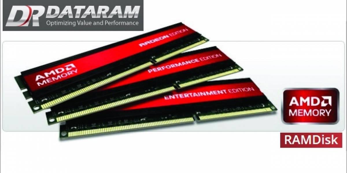 AMD Radeon RAMDisk: El fruto del acuerdo entre AMD y Dataram